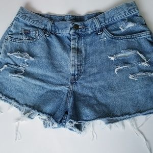 Distressed Jean Shorts Riders By Lee
